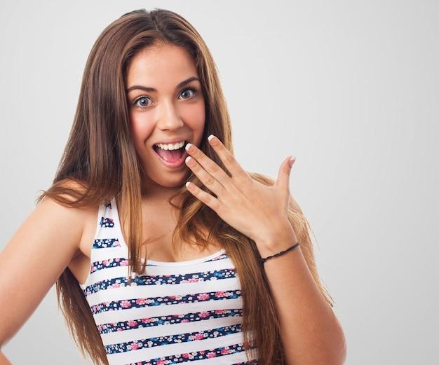 Surpris jeune femme avec un grand sourire t l charger des photos gratuitement - Image sourire gratuit ...