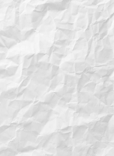Texture blanche de papier froissé pour l'arrière plan   Télécharger des Photos gratuitement