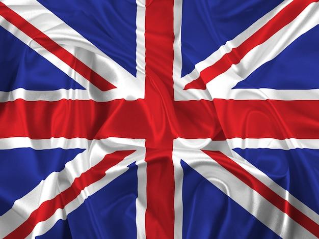 Union Jack avec des plis et des plis Photo gratuit