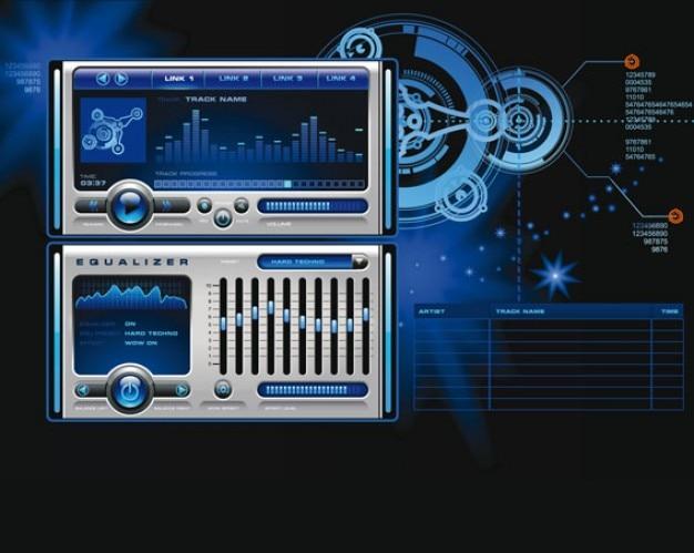 vecteur stock mp3 lecteur multimédia