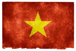 vietnam flag grunge Photo gratuit