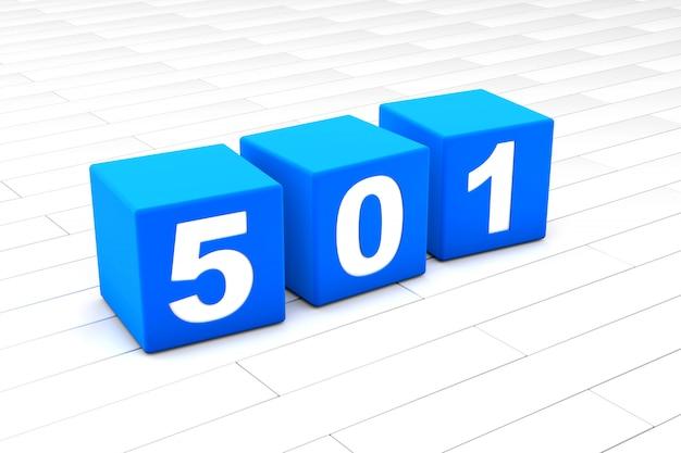 Illustrazione 3d dell'errore html codice 501 Foto Premium