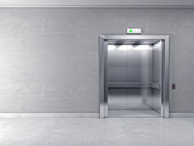 3d moderno ascensore Foto Premium
