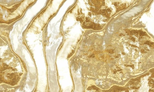 Rendering 3d sfondo oro astratto Foto Premium