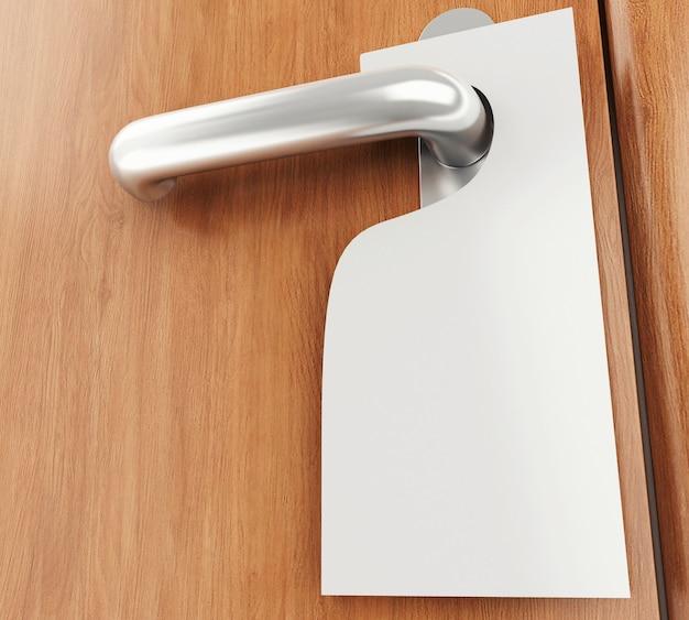 Segno 3d sulla maniglia della porta Foto Premium