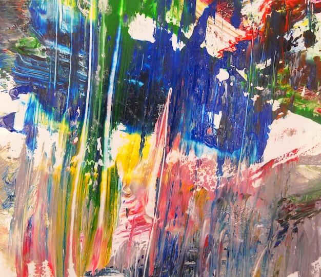 Arte astratta con spruzzi di sfondo texture pittura a olio multicolore. Foto Premium