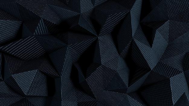 Sfondo astratto con trama del tessuto nero Foto Premium