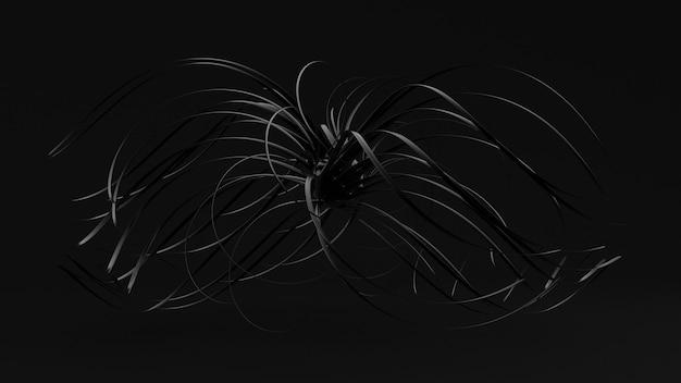 Sfondo nero astratto. Foto Premium