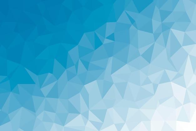 Struttura del fondo astratto blu basso poli. illustrazione di sfondo poligonale creativo Foto Premium
