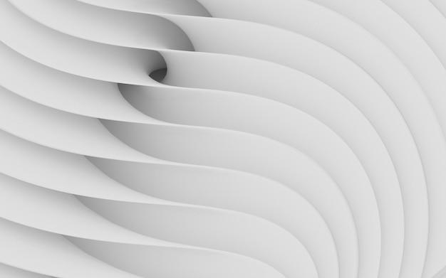 Forme curve astratte. sfondo circolare bianco. Foto Premium