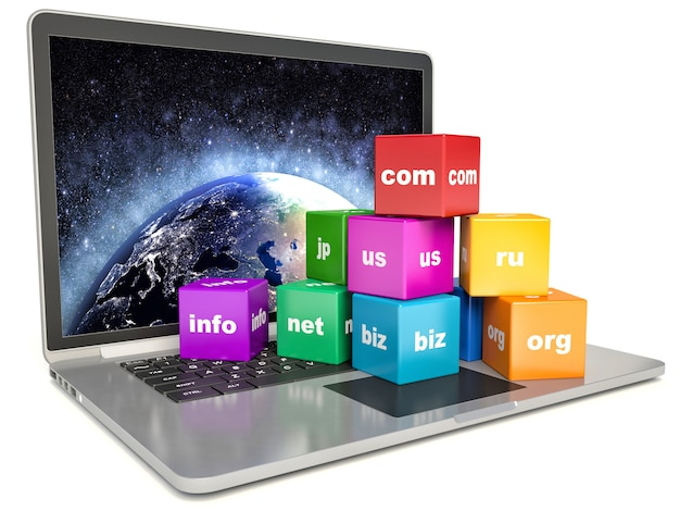 Tecnologia pc globale di comunicazione internet astratta Foto Premium