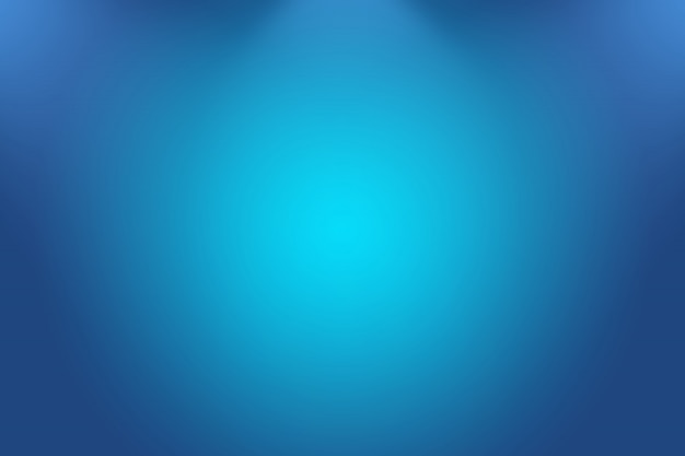 Astratto sfondo blu sfumato di lusso. liscio blu scuro con vignetta nera studio banner. Foto Premium