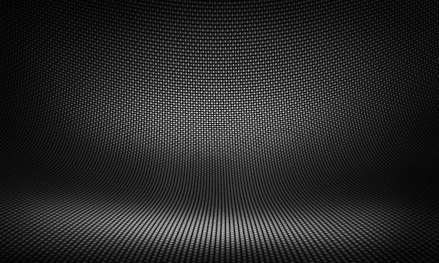 Disegno materiale astratto moderno in fibra di carbonio nero per lo sfondo, Foto Premium
