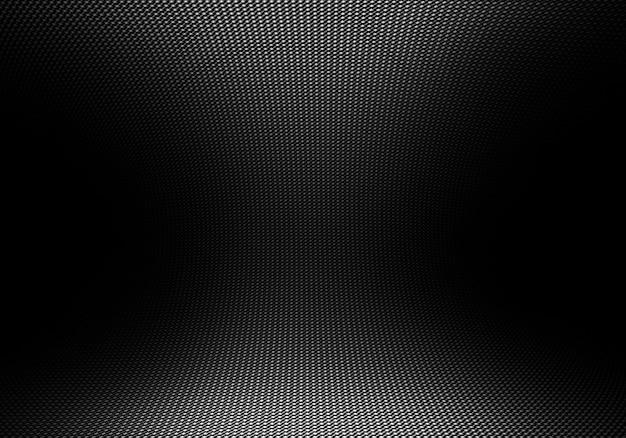 Struttura moderna astratta nera della fibra del carbonio con luce direzionale Foto Premium