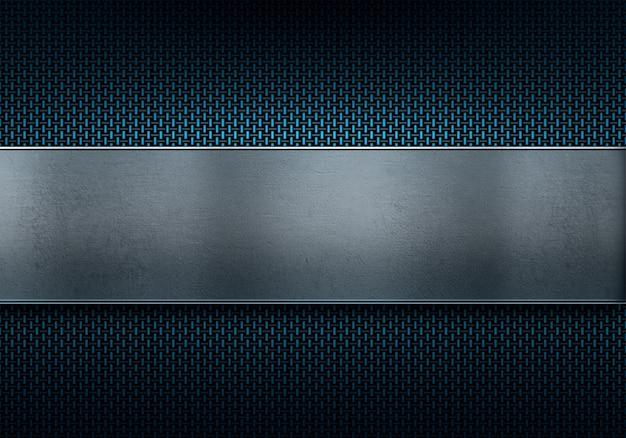 Progettazione materiale strutturata moderna blu astratta della fibra del carbonio per fondo Foto Premium