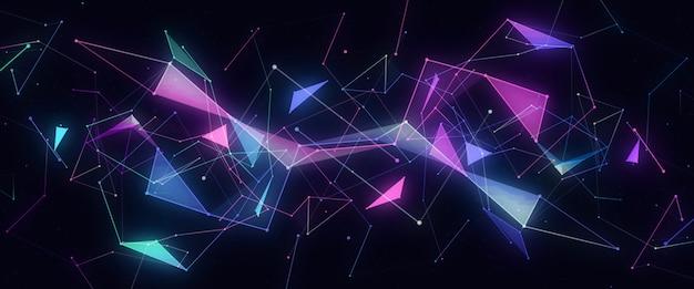Linee al neon astratte futuristiche moderne Foto Premium