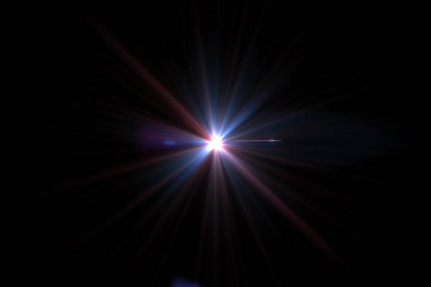 Estratto del sole con il chiarore. sfondo naturale con luci e sfondi del sole. Foto Premium