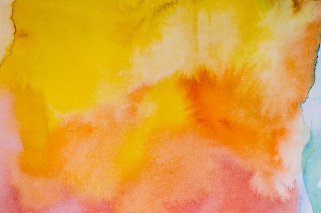 Fondo astratto dell'acquerello dei pennelli di tramonto Foto Premium