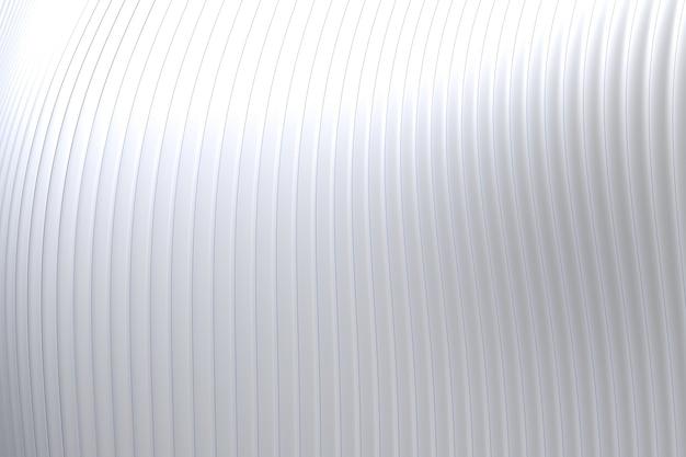 Dettagli astratti del fondo di bianco di architettura dell'onda della parete Foto Premium