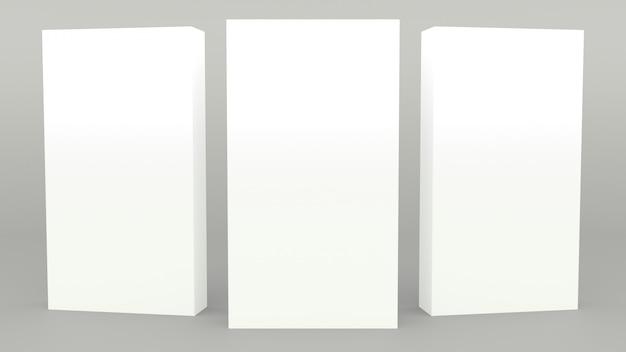 Scena minima 3d dell'insegna grigia del supporto di pubblicità che rende minimalistic moderno Foto Premium