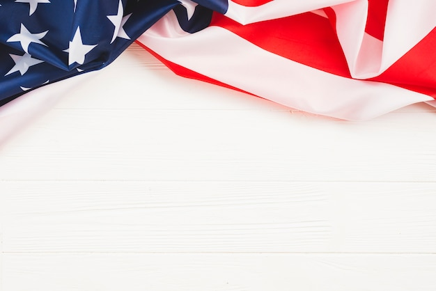 Bandiera americana su sfondo bianco Foto Premium