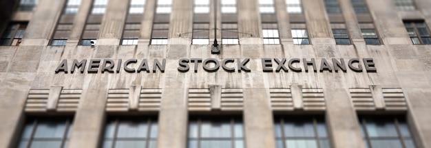 Borsa americana amex a lower manhattan, new york. Foto Premium