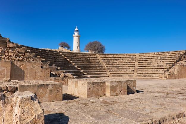 Anfiteatro nel sito archeologico di paphos Foto Premium