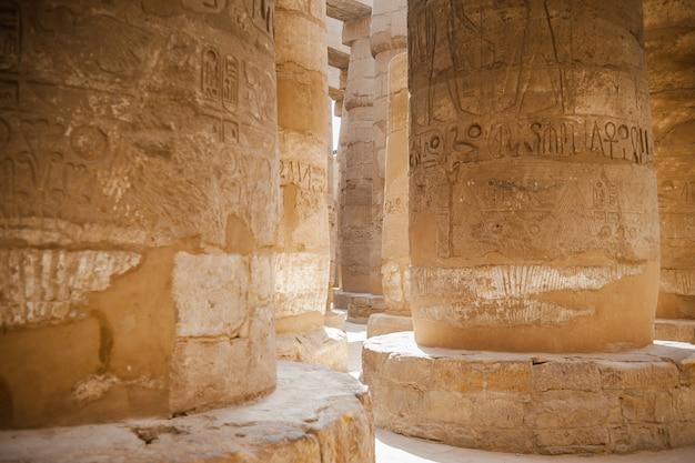 Antico tempio egizio complesso luxor Foto Premium
