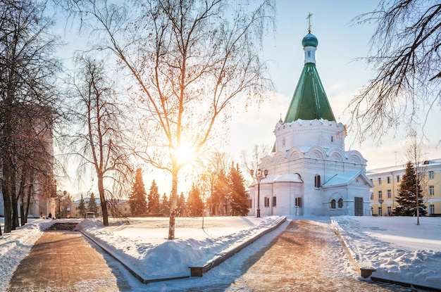 Cattedrale dell'arcangelo nel cremlino di nizhny novgorod Foto Premium