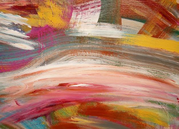 La pittura artistica di colori luminosi del fondo di arte spruzza. Foto Premium