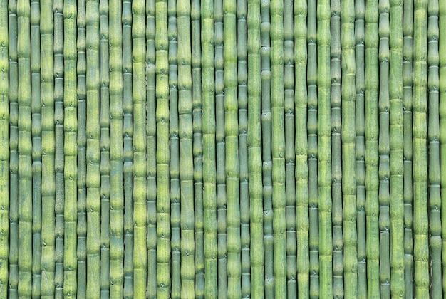 Recinto di bambù verde artificiale come sfondo texture Foto Premium