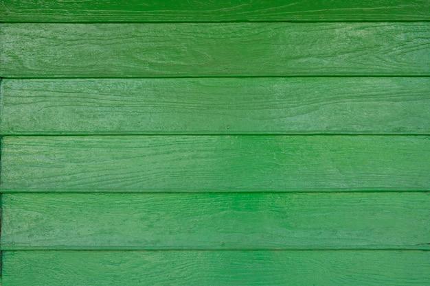 Sfondo di muro di legno verde artificiale Foto Premium