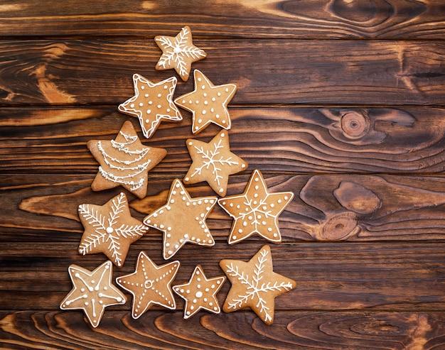 Biscotti assortiti del pan di zenzero di natale Foto Premium