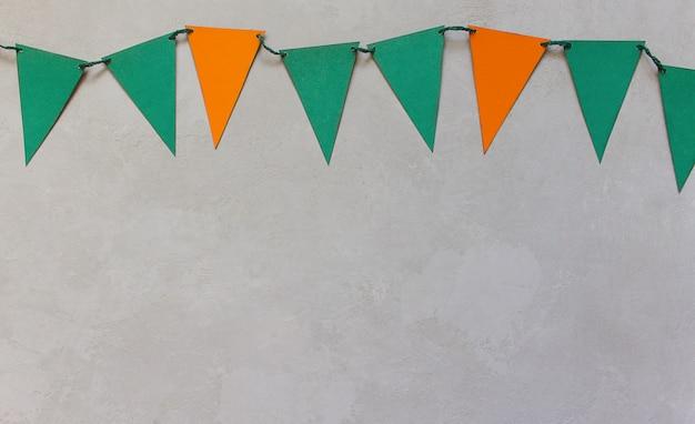 Bandiere di autunno di halloween, sfondo grigio Foto Premium