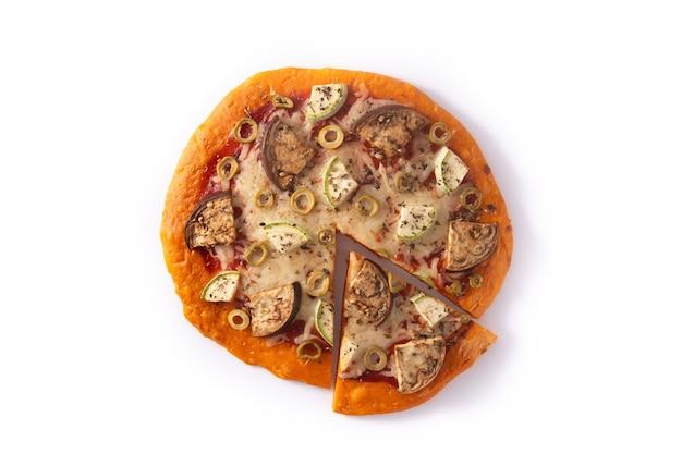 Pizza di zucca autunnale con verdure Foto Premium