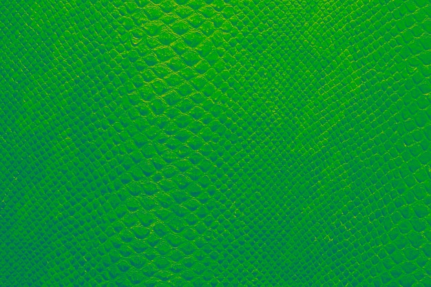 Texture di sfondo della pelle di serpente verde smeraldo brillante Foto Premium