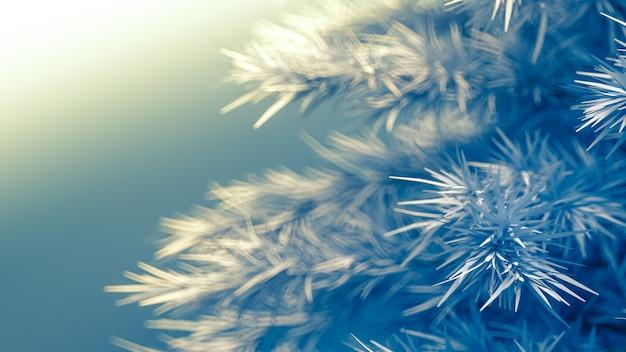 Sfondo con un albero di natale 3d rendering illustrazione Foto Premium