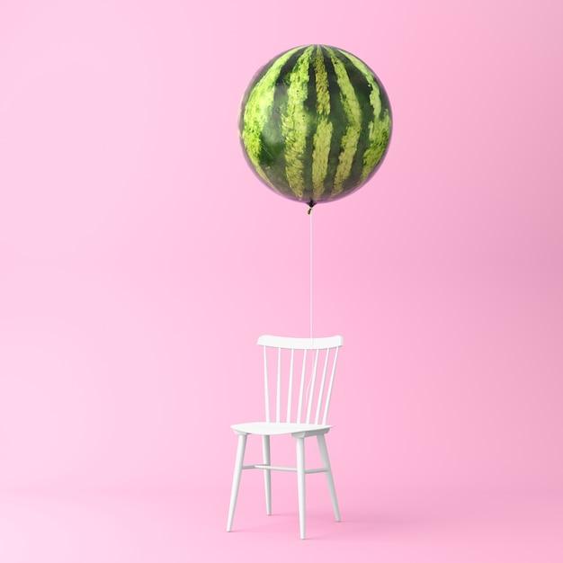 Anguria di palloncino con il concetto di sedia Foto Premium