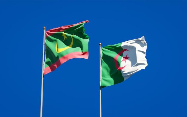 Belle bandiere nazionali contro il cielo Foto Premium