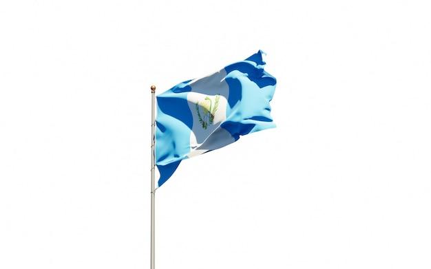 Bella bandiera nazionale dello stato del guatemala Foto Premium