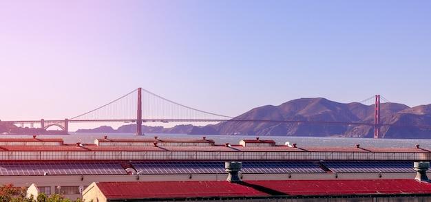 Bella vista sul famoso golden gate bridge di san francisco Foto Premium