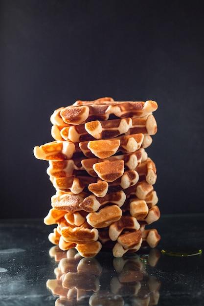 Cialde belghe dessert dolce colazione fresca pasto Foto Premium