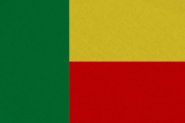 Bandiera in tessuto benin Foto Premium