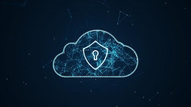 Big data connections between things. Foto Premium