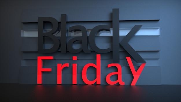 Banner di vendita del black friday con formulazione 3d Foto Premium