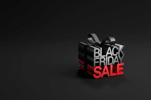 Vendita venerdì nero in confezione regalo avvolta sul nero. Foto Premium