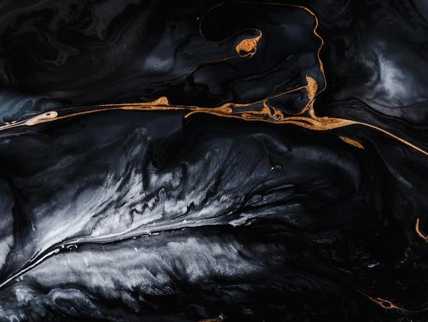 Effetto marmo nero e oro Foto Premium