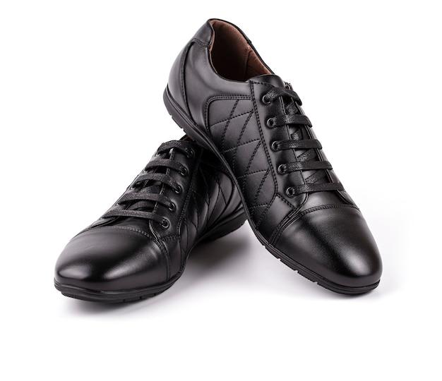 Scarpe da uomo in pelle nera Foto Premium