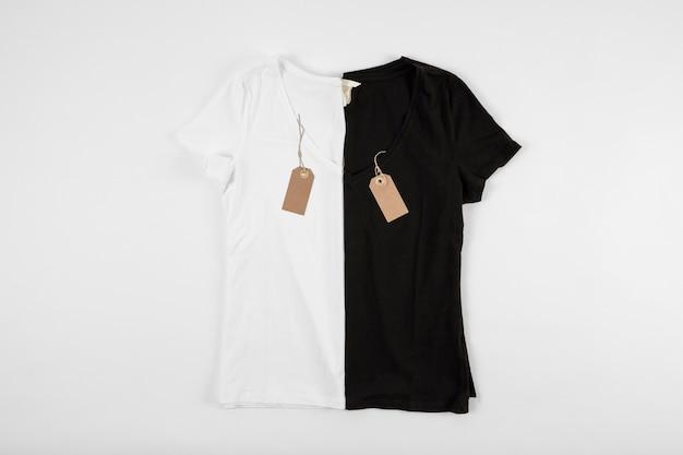 occhio catena Celebrità  T-shirt bianche e nere una accanto all'altra | Foto Premium