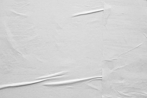 Carta sgualcita e sgualcita bianca in bianco Foto Premium